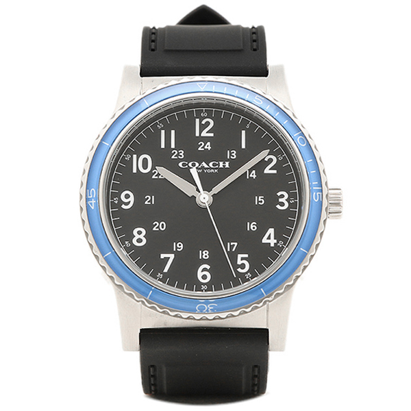 【24時間限定ポイント5倍】コーチ 腕時計 メンズ アウトレット COACH W5015 F3A ブラック シルバー ブルー