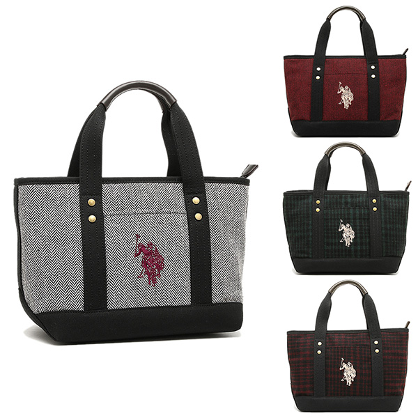 ad63cd08bf Brand Shop AXES  US polo tweed handbag US POLO ASSN USPA-1862 ...