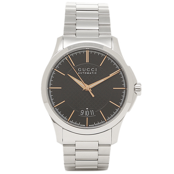 【2時間限定ポイント10倍】グッチ メンズ 腕時計 GUCCI YA126432 ブラック シルバー