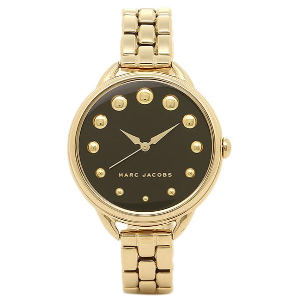 【2時間限定ポイント10倍】マークジェイコブス 腕時計 MARC JACOBS MJ3494 レディース ブラック ゴールド