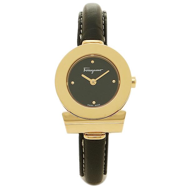 【期間限定ポイント10倍】【返品OK】フェラガモ 腕時計 レディース Salvatore Ferragamo FII070015 ブラック ゴールド