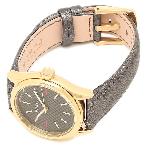 후르라 FURLA 손목시계 R4251101501 옐로우 골드/메탈릭 블랙