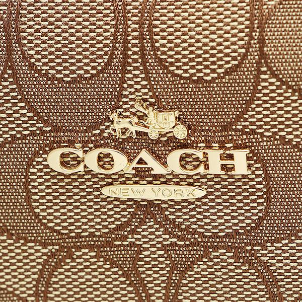 教练COACH大手提包奥特莱斯F58284 IMC7C黄褐色棕色