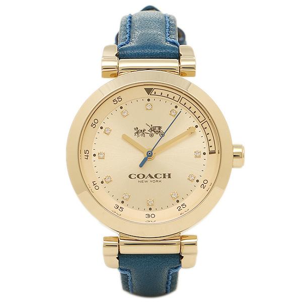 【4時間限定ポイント10倍】コーチ 腕時計 レディース COACH 14502538 ブルー イエローゴールド