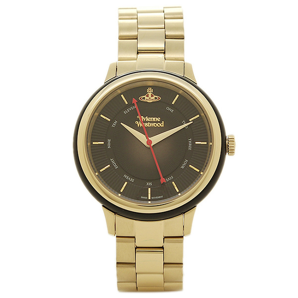 【返品OK】ヴィヴィアンウエストウッド レディース腕時計 VIVIENNE WESTWOOD VV158BKGD ブラック ゴールド