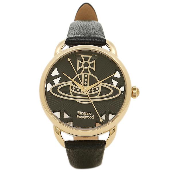 ヴィヴィアンウエストウッド レディース腕時計 VIVIENNE WESTWOOD VV163BKBK ブラック ゴールド