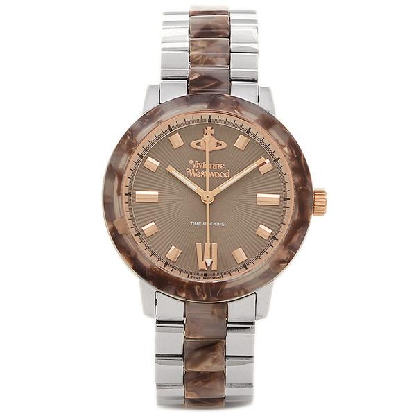 ヴィヴィアンウエストウッド レディース腕時計 VIVIENNE WESTWOOD VV165BRSL ブラウン シルバー
