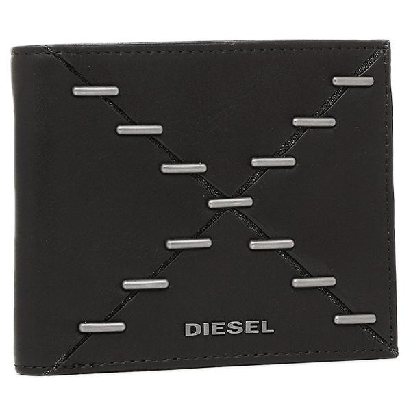 【2時間限定ポイント10倍】ディーゼル 折財布 DIESEL X04121 PS778 H1669 ブラック