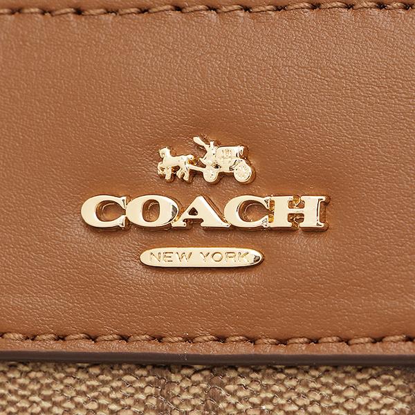 教练COACH挎包奥特莱斯F58312 IMBDX黄褐色棕色