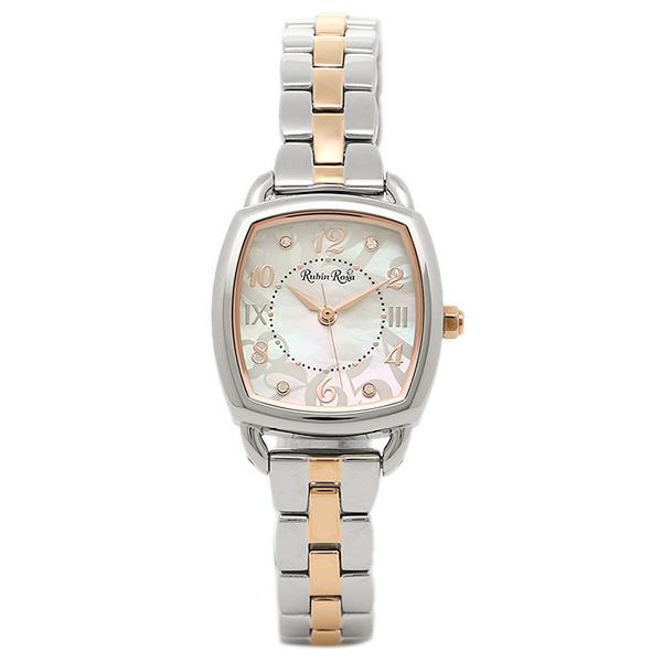 【2時間限定ポイント10倍】ルビンローザ 腕時計 Rubin Rosa R020SOLTWH レディース ホワイト/シルバー/ピンクゴールド