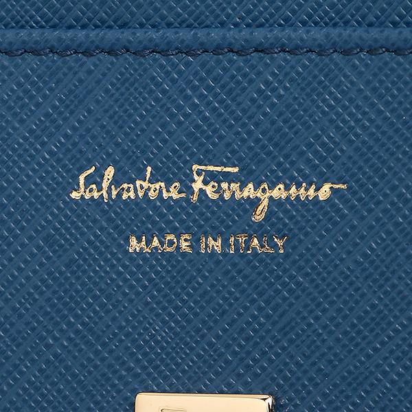 페라가모장 지갑 Salvatore Ferragamo 224633 0656800 다크 블루