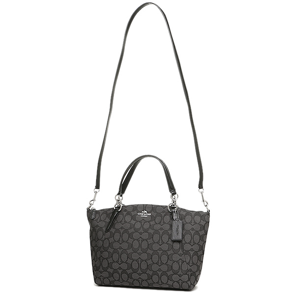 coach bag black and gray 4k0z  Coach shoulder bag outlet COACH F58283 SVDK6 black is gray