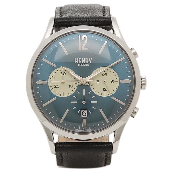 ヘンリーロンドン 腕時計 HENRY LONDON HL41-CS-0039 ブラック シルバ- ブル-