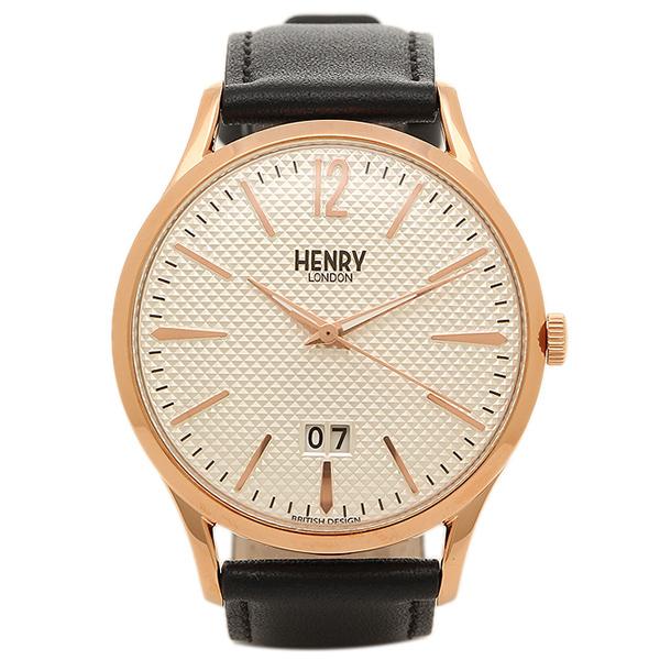 【返品OK】ヘンリーロンドン 腕時計 HENRY LONDON HL41-JS-0038 ブラック ロ-ズゴ-ルド ホワイト