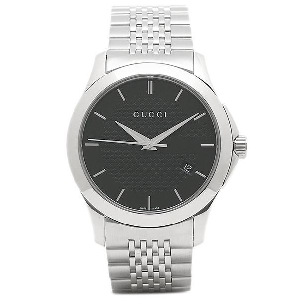 【返品OK】グッチ 腕時計 レディース GUCCI YA126480 シルバー ブラック