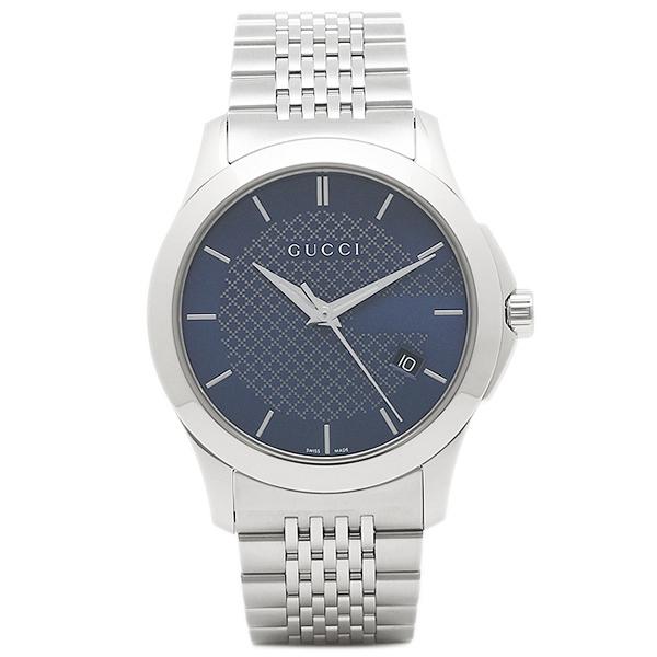 【返品OK】グッチ 腕時計 レディース GUCCI YA126481 シルバー ブルー