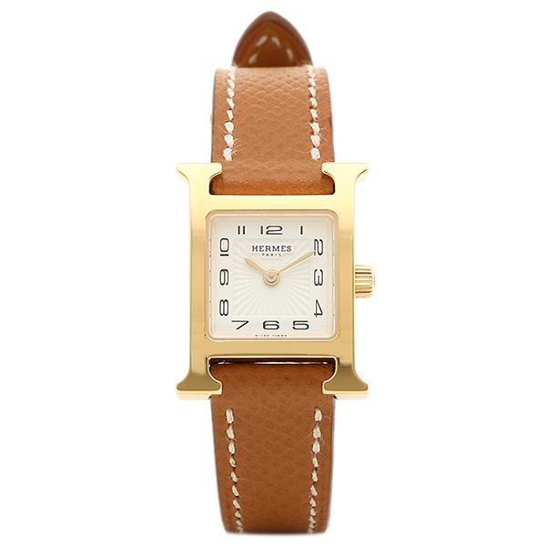 エルメス 腕時計 HERMES HH1.101.131/UGO1 W039350WW00 ブラウン レディース ホワイト イエローゴールド