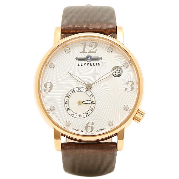 【返品OK】ツェッペリン 腕時計 ZEPPELIN 76335 シルバー ゴールド ブラウン