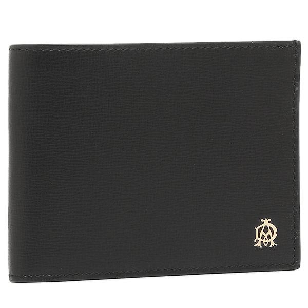 ダンヒル 財布 メンズ DUNHILL L2S832A BELGRAVE BILLFOLD 4CC & COIN PURSE 2つ折り財布 ブラック
