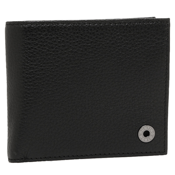 ハンティングワールド 財布 HUNTING WORLD 207-371 KASHGAR 2つ折り財布 BLACK