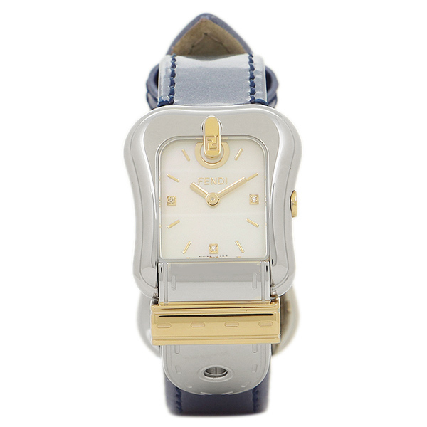 【期間限定ポイント5倍】【返品OK】フェンディ 腕時計 レディース FENDI F380124531D1 ホワイトパール シルバー ブルー