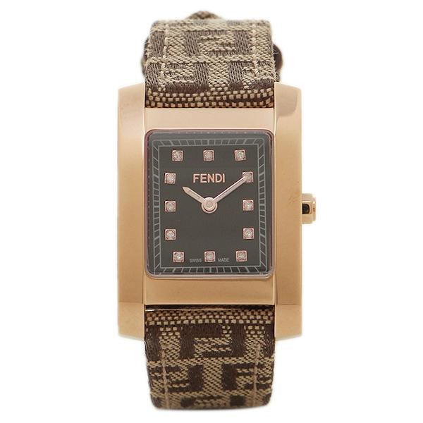 【期間限定ポイント5倍】【返品OK】フェンディ 腕時計 レディース FENDI F704222DF-N ブラック/ゴールド/ブラウン
