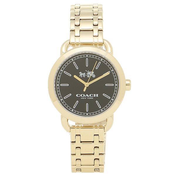 코치 시계 아울렛 COACH W6049 GD/BK레이디스 손목시계 워치 골드/블랙