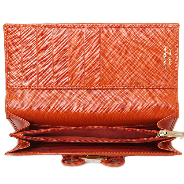 Ferragamo long wallet Salvatore Ferragamo 22B559 0656951 light orange