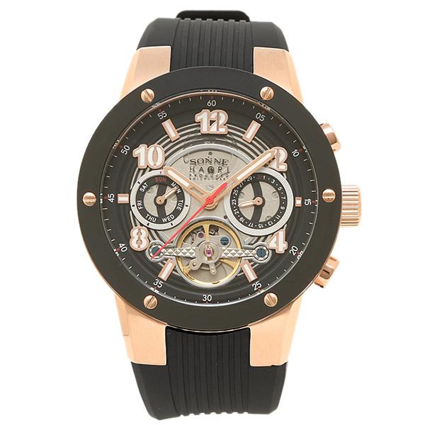 【返品OK】ゾンネ 腕時計 SONNE H017PG-BK ブラック ローズゴールド