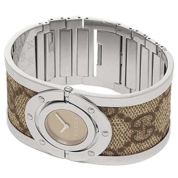 구찌 시계 레이디스 GUCCI 트워르 손목시계 워치 블랙/실버/베이지