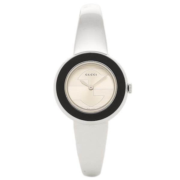 【2時間限定ポイント10倍】グッチ 腕時計 レディース GUCCI YA129516-SET-BKBG シルバー アイボリー