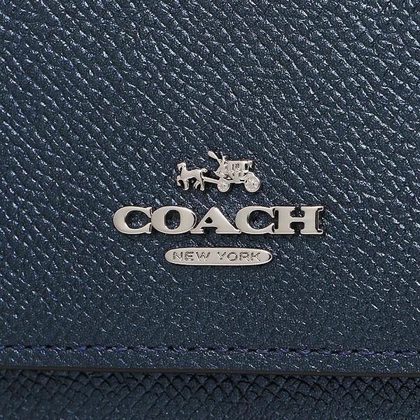 教练COACH长钱包55982 SVLBI金属深蓝