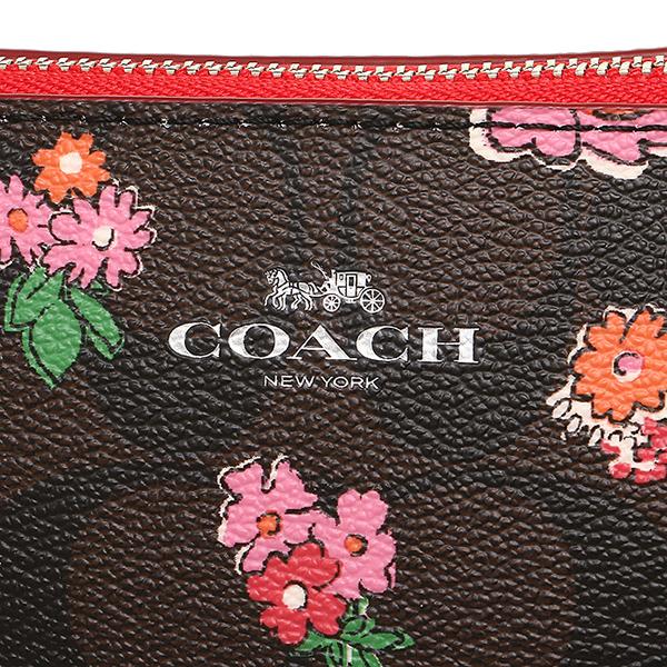 코치 COACH 파우치 아울렛 F57980 SVLMA 브라운 레드 멀티