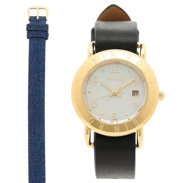 Rubin Rosa 腕時計 ルビンローザ R601GWHMOP レディース ホワイトシェル/ブラック/ブルー