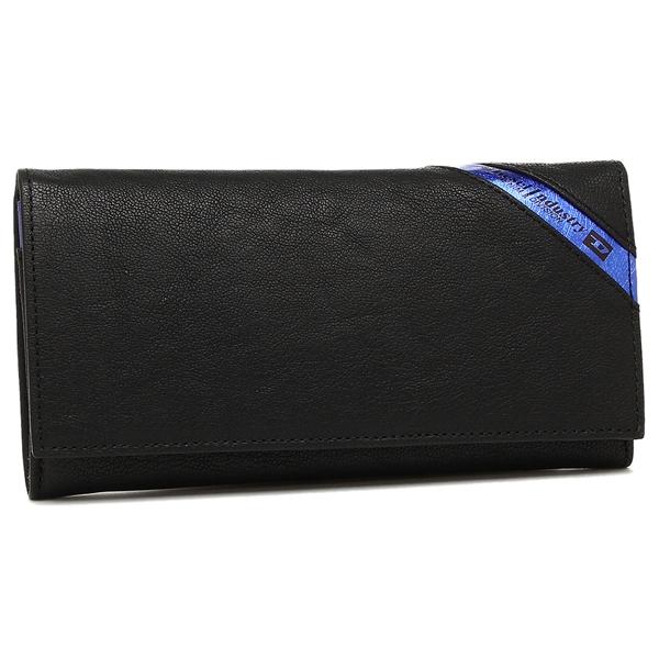 【2時間限定ポイント10倍】ディーゼル 長財布 DIESEL X03608 P1221 H6169 ブラック ブルー