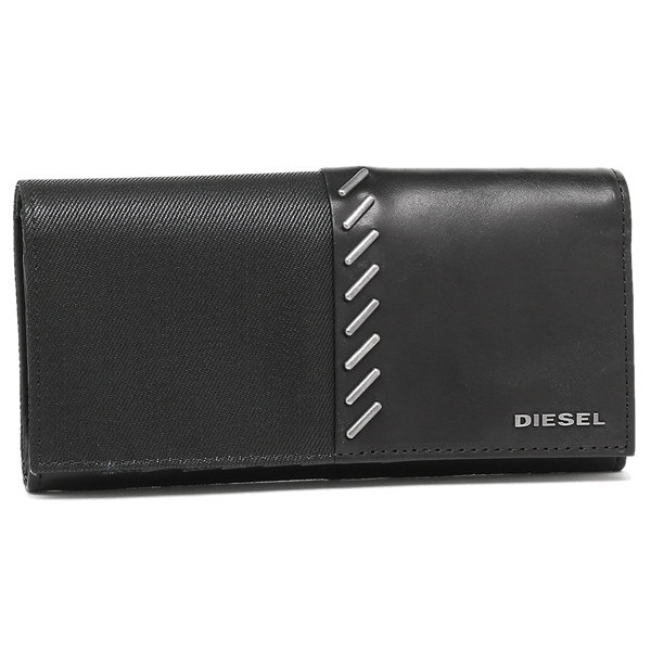 【2時間限定ポイント10倍】ディーゼル 長財布 DIESEL X04351 PR559 T8013 ブラック
