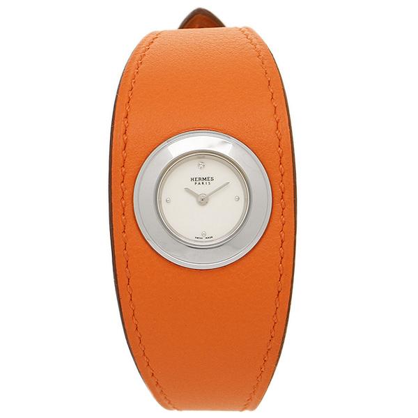 HERMES 時計 エルメス W042202WW00 FG2.110.113/WOR レディース オレンジ/シルバー/ホワイト