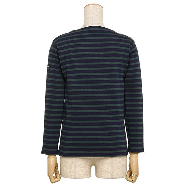 센트 제임스 SAINT JAMES 긴소매 보더 T셔츠 SAINT JAMES 2501 DJ GUILDO RA길드 맨즈/레이디스 겸용 바스크 셔츠 NAVY/PIN OUESSANT/웨손 후계 모델