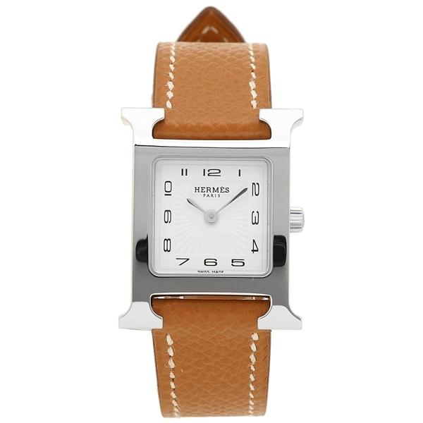 HERMES 腕時計 エルメス 036702WW00 HH1.210.131/UGO Hウォッチ ブラウン レディース シルバー ホワイト
