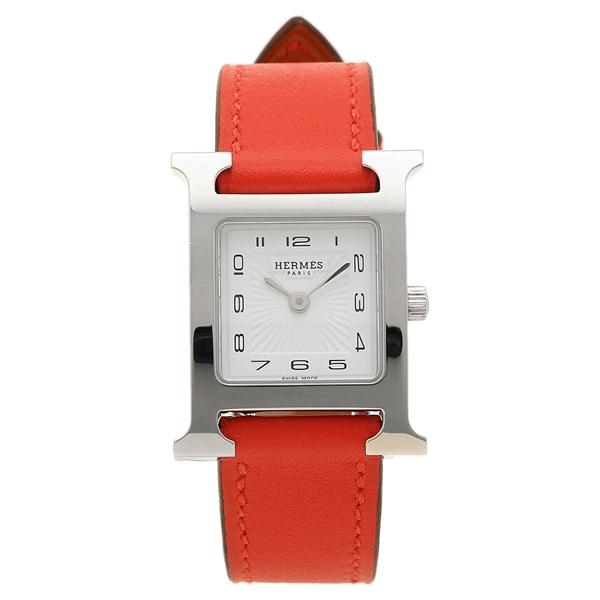 HERMES 腕時計 エルメス 041157WW00 HH1.210.131/WW9T レッド レディース シルバー ホワイト