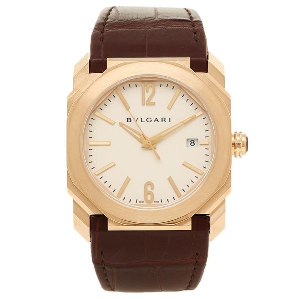 BVLGARI 腕時計 メンズ ブルガリ BGOP38WGLD ホワイト ローズゴールド ブラウン
