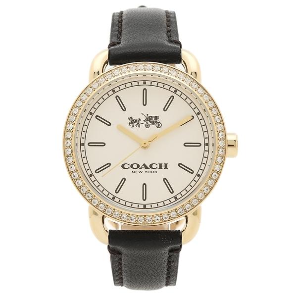 【返品OK】COACH 腕時計 レディース アウトレット コーチ W6052 BLK ホワイト ゴールド ブラック