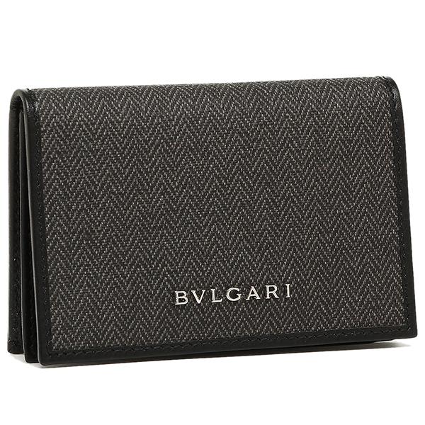 【24時間限定ポイント5倍】ブルガリ カードケース レディース BVLGARI 32588 WEEKEND ブラック