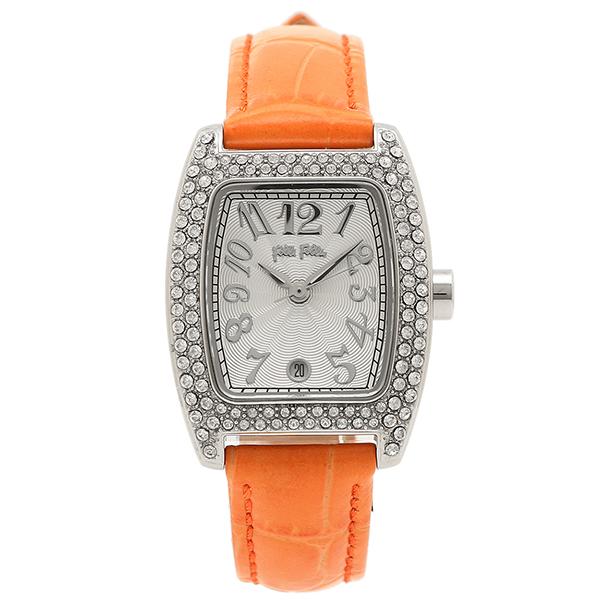 【返品OK】フォリフォリ 腕時計 レディース FOLLIFOLLIE S922ZI SLV/ORG ジルコニア 時計/ウォッチ シルバー/オレンジ