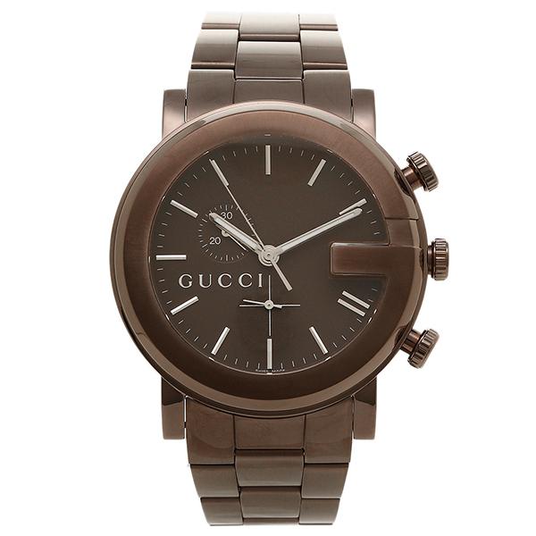 f277b2ac8cb Gucci clock men GUCCI G Kurono everyday life waterproofing watch watch brown    silver