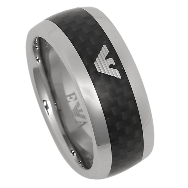 Emporio Armani Ring Egs1602040 Black Silver