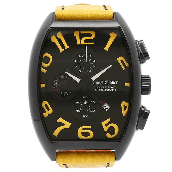 エンジェルクローバー ANGEL CLOVER 時計 腕時計 メンズ エンジェルクローバー 腕時計 ANGEL CLOVER DP38BYEYE ダブルプレイ ブラック/イエロー メンズ カーフ革