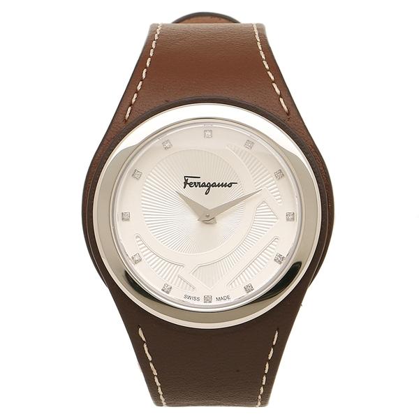 Salvatore Ferragamo 腕時計 レディース フェラガモ FID030015 シルバー ブラウン