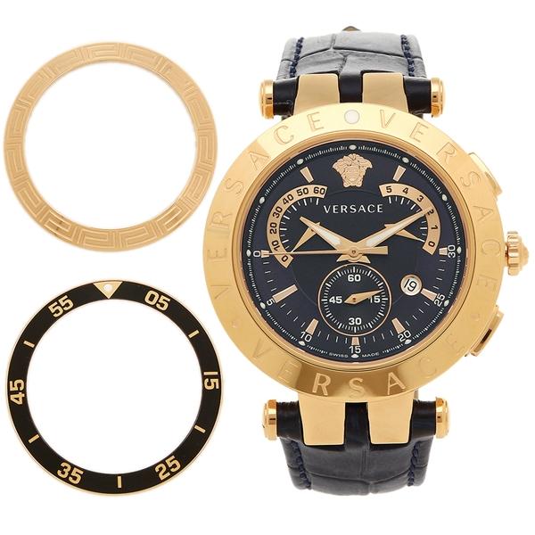 【2時間限定ポイント10倍】VERSACE 腕時計 ヴェルサーチ 23C80D282S282 ネイビー ゴールド