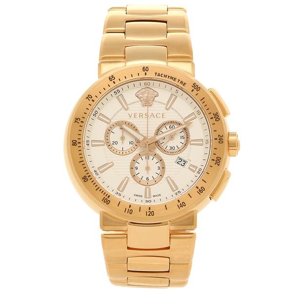 【4時間限定ポイント5倍】VERSACE 腕時計 ヴェルサーチ VFG180016 ホワイト ゴールド
